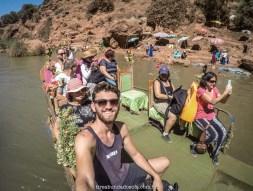 Os barcos improvisados nas cascatas de ouzoud, no marrocos