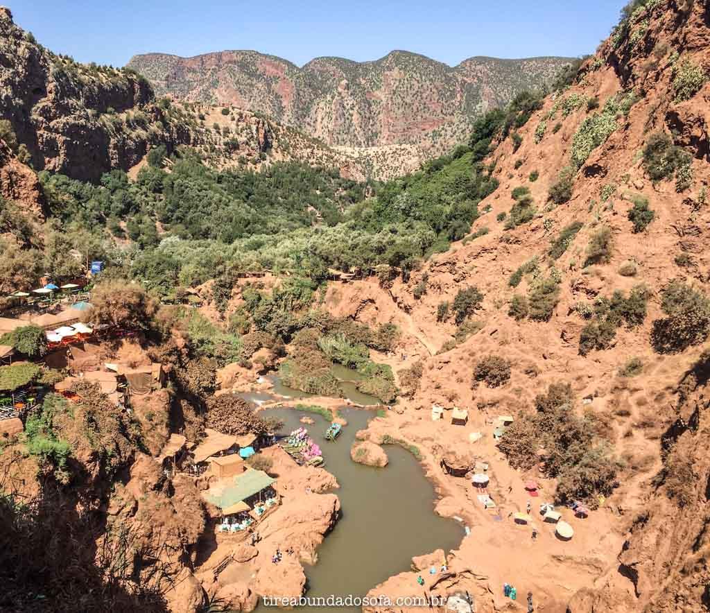 O vale de Ouzoud Falls, no Marrocos