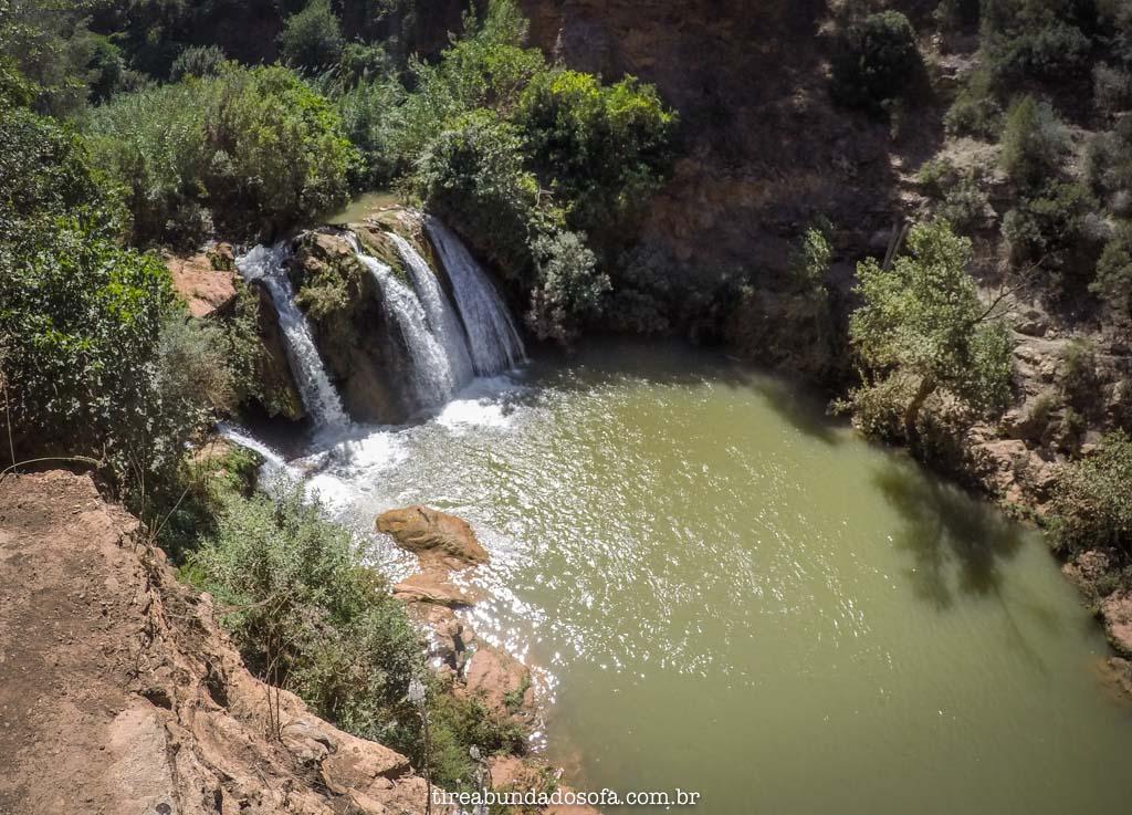 Lagos bons para banho, nas cascatas de ouzoud, no marrocos