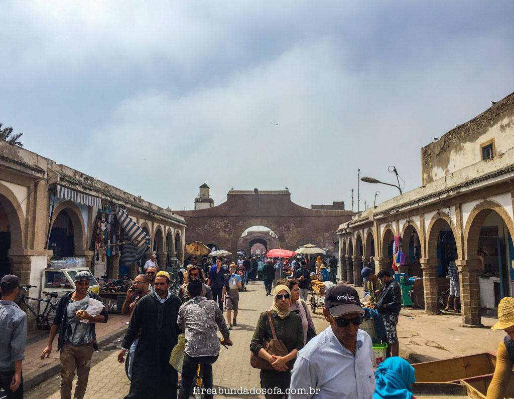 Rua principal da parte antiga de Essaouria