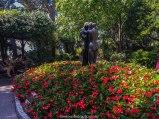 monaco, jardins de monaco, monte carlo, estatua de casal