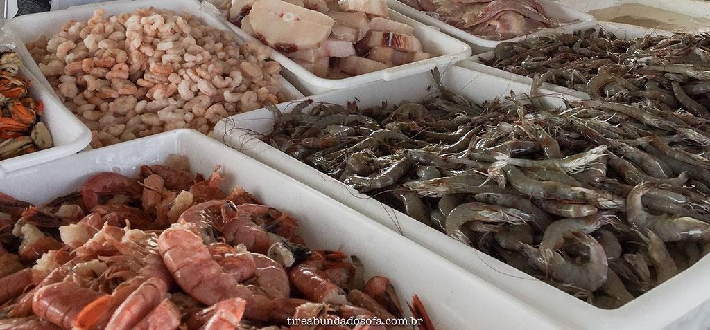 camarão fresco, peixaria, itapoa, praia de santa catarina
