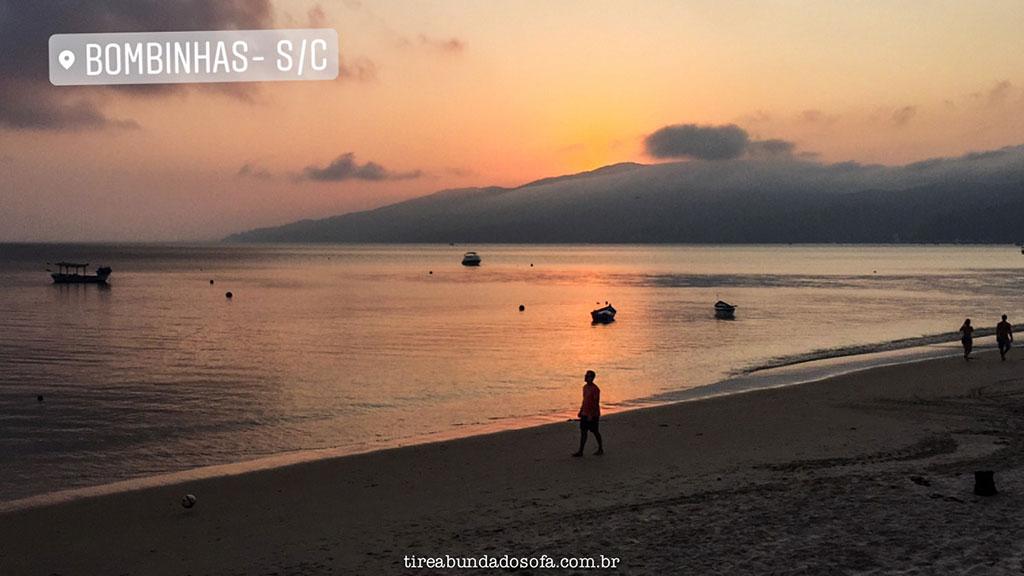 bombinhas, sc, santa catarina, praia do canto grande mar de dentro, o que fazer em bombinhas, pôr do sol