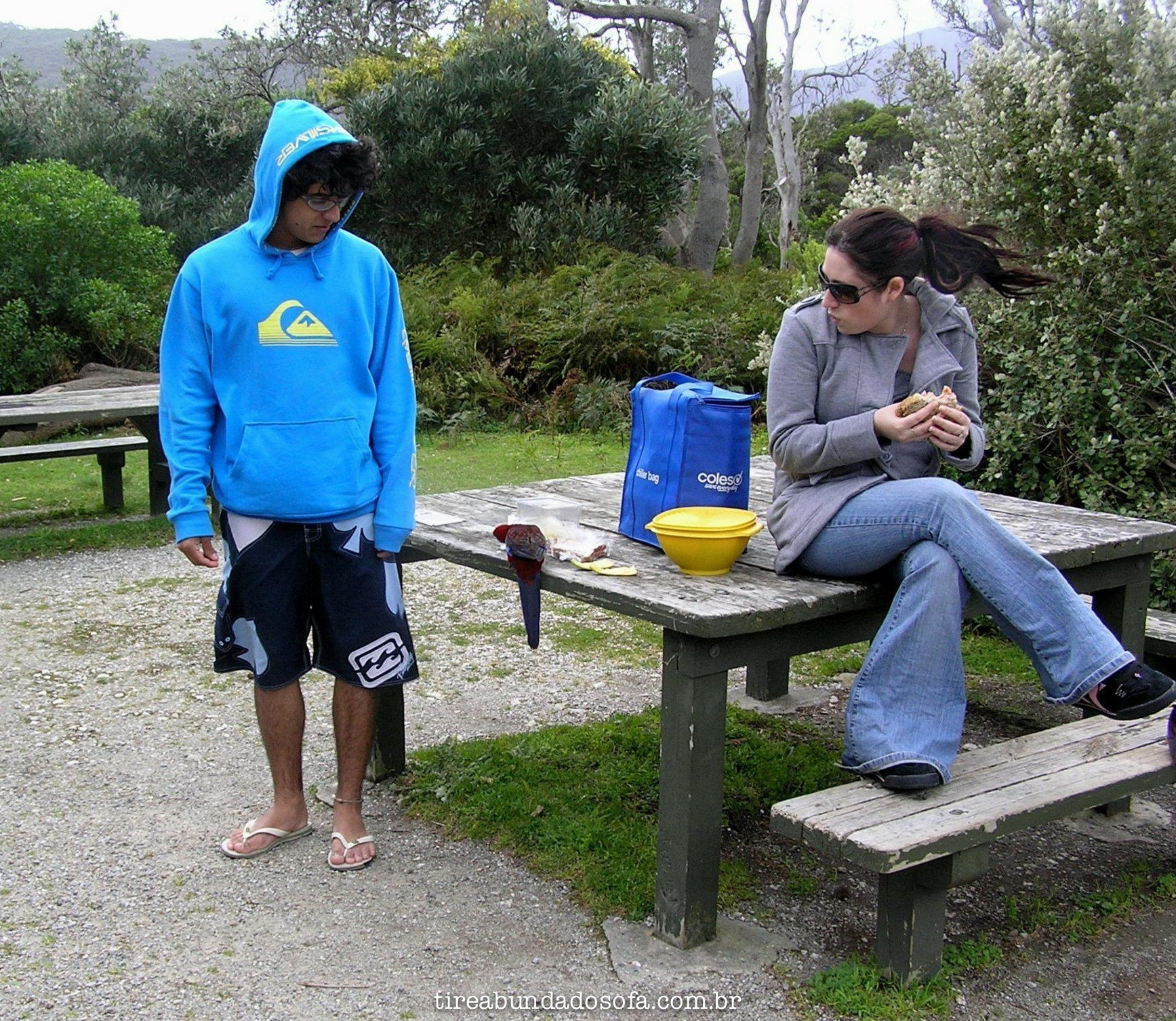 Rafael no seu intercâmbio de 1 ano pela Austrália, quando tinha apenas 16 anos de idade