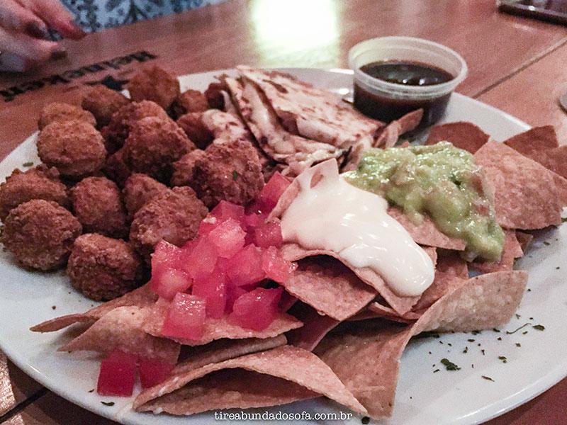 Combo de comida mexicana no Arriba Mexican Bar, em Jaraguá do Sul