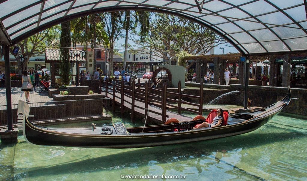 A famosa Gôndola Veneziana de Nova Veneza, em SC