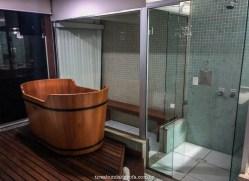 ofurô e sauna, hotel fazenda china park, em domingos martins, no espírito santo