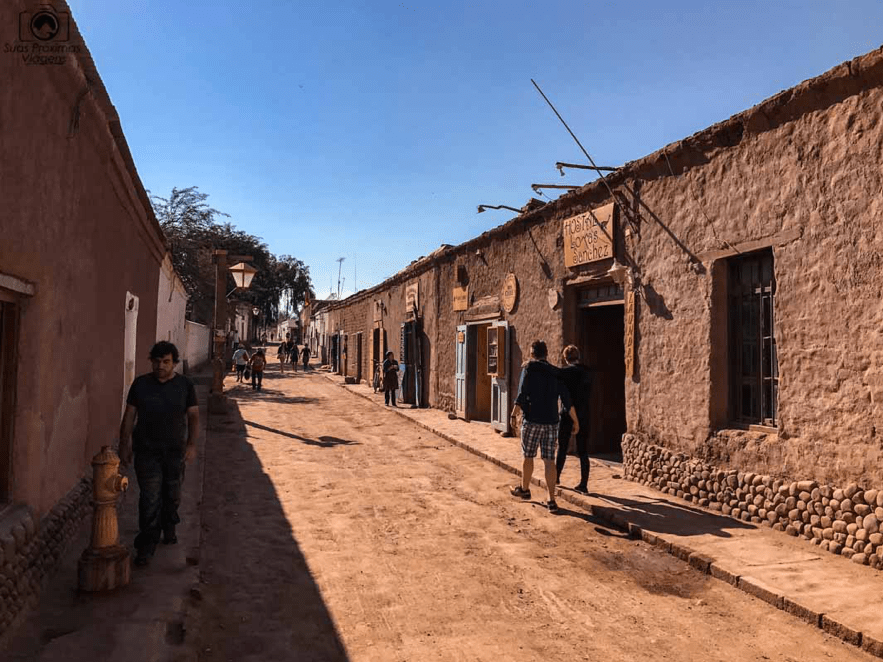 Rua Caracoles, em San Pedro de Atacama