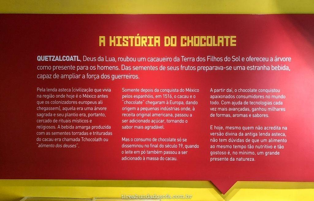 A história do chocolate, na fábrica da garoto, em vila velha, espírito santo