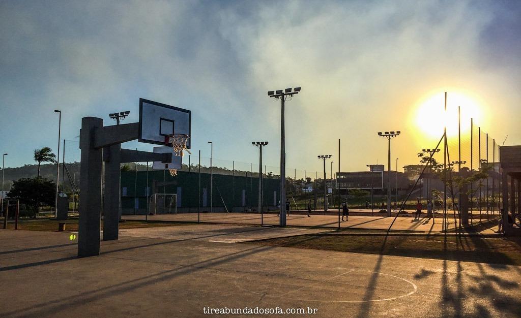 quadras de esportes no parque das nações, em criciúma