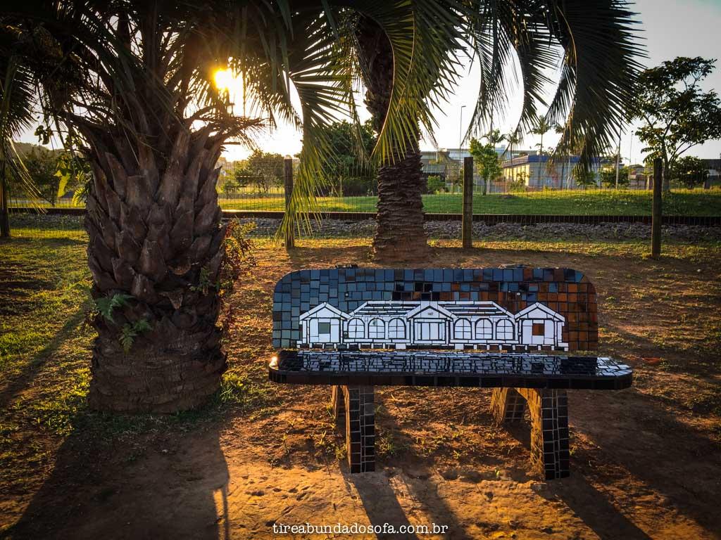 bancos do parque das nações, na criciúma