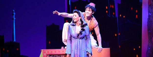espetáculo de Aladdin, na broadway, em nova york