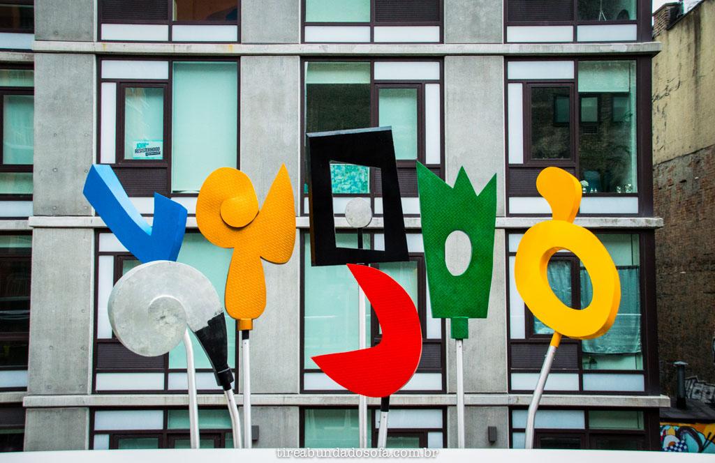 Arte no Highline Park, em nova york