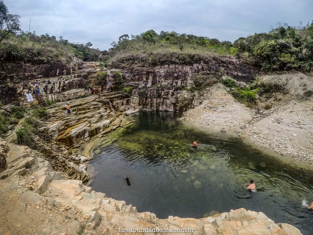 cachoeira da lagoa azul, em capitólio, minas gerais