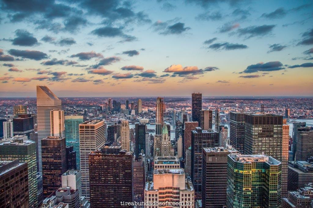 vista do top of the rock, em nova york