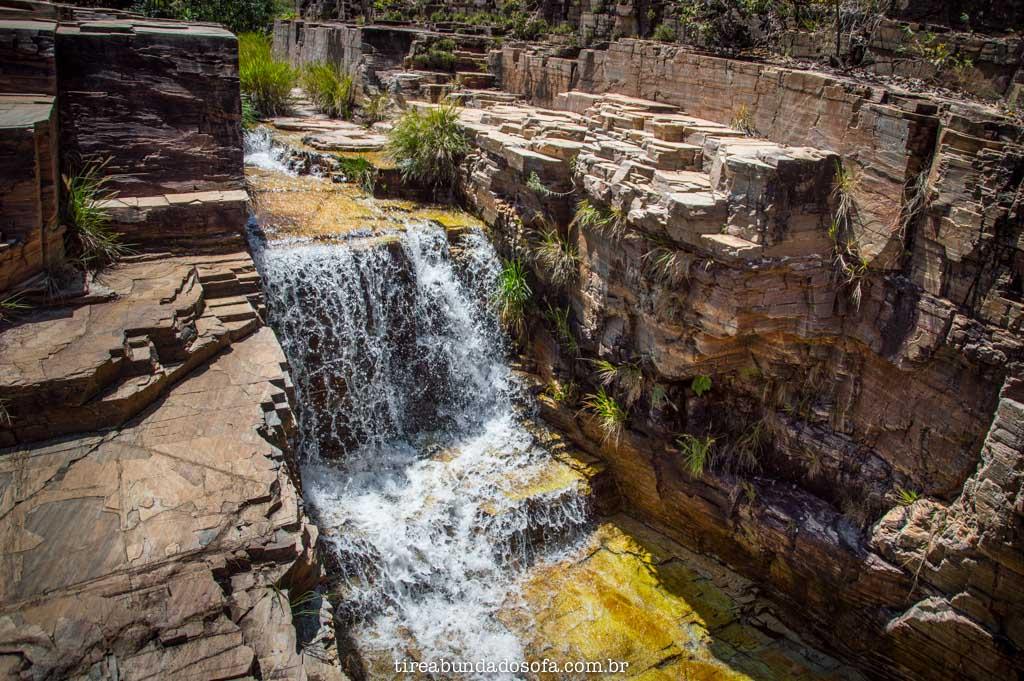 Cachoeira No Limite, no parque trilha do sol, em capitólio, minas gerais