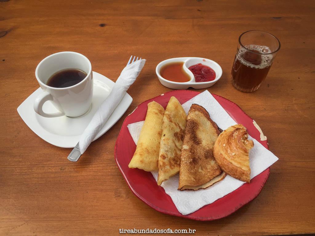 Típico Café da manhã marroquino, em marrakech