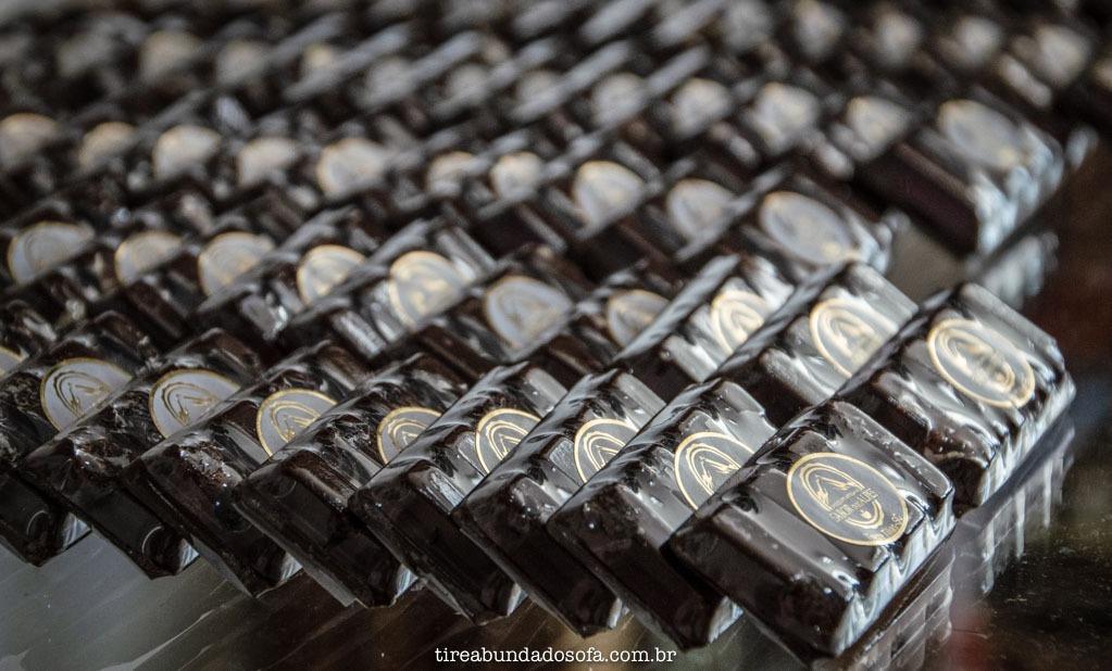 Chocolates Sabor dos Alpes, em Treze Tílias, Santa Catarina