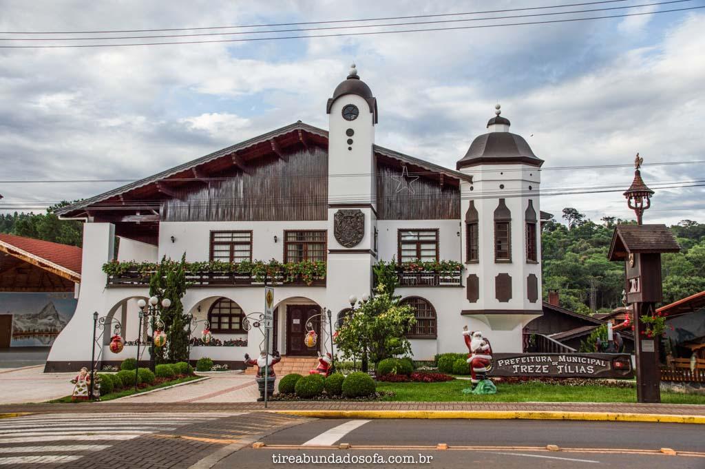 Prefeitura de Treze Tílias, em Santa Catarina