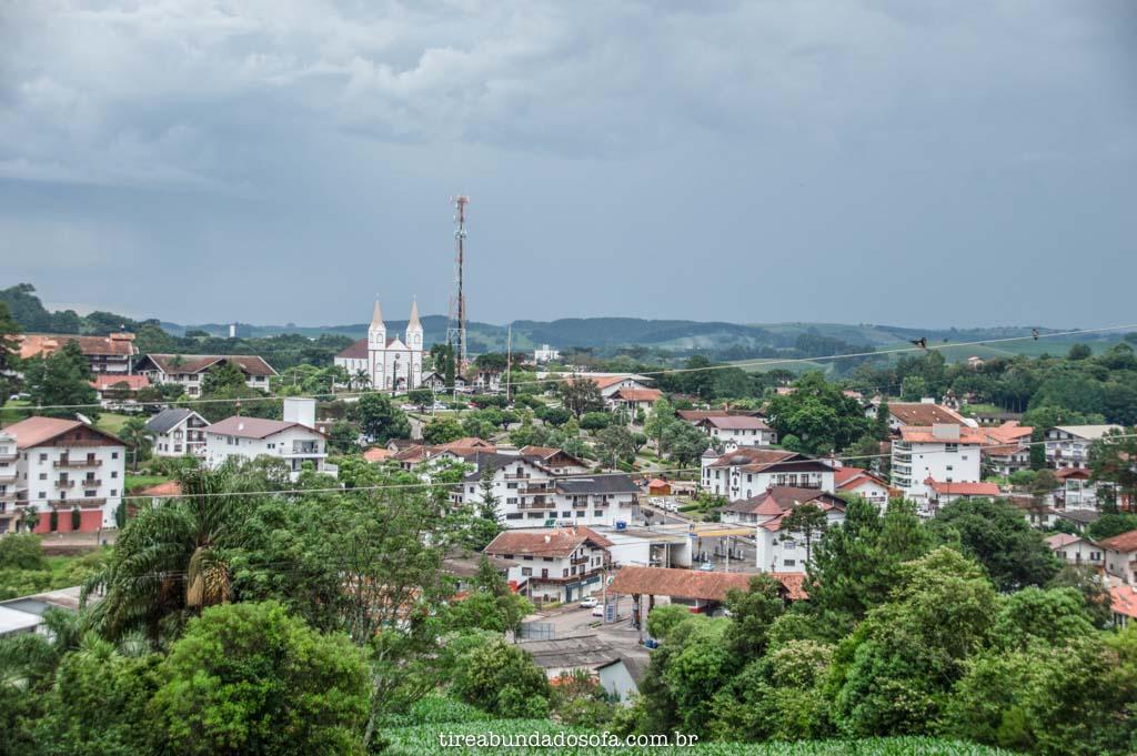 Treze Tílias, vista do Treze Tílias Park Hotel, em Santa Catarina