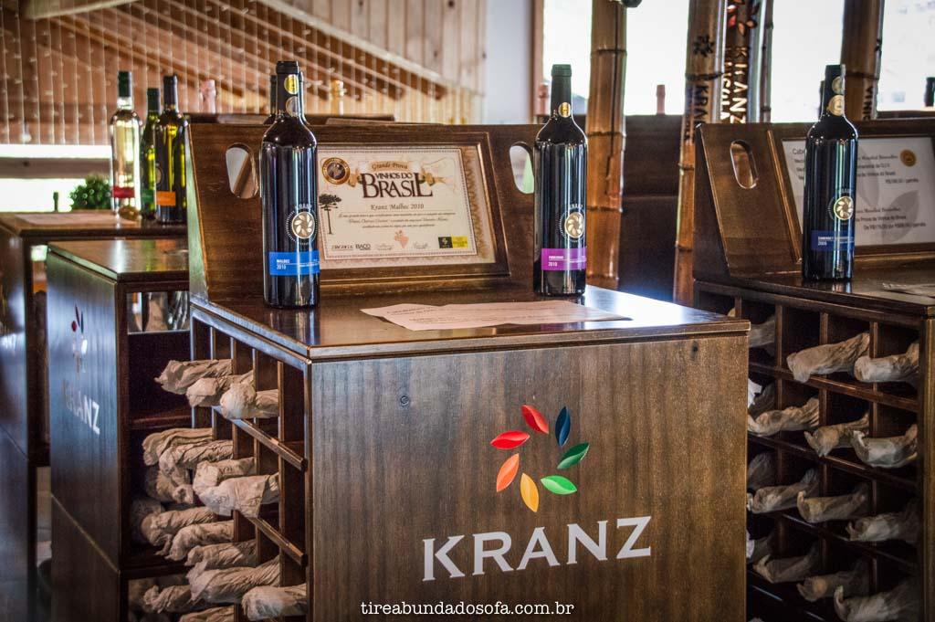 Vinhos de alta qualidade, da vinícola Kranz, em Treze Tílias, Santa Catarina