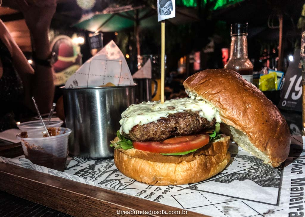 hamburguer delicioso do fritz burguer, em pomerode, sc