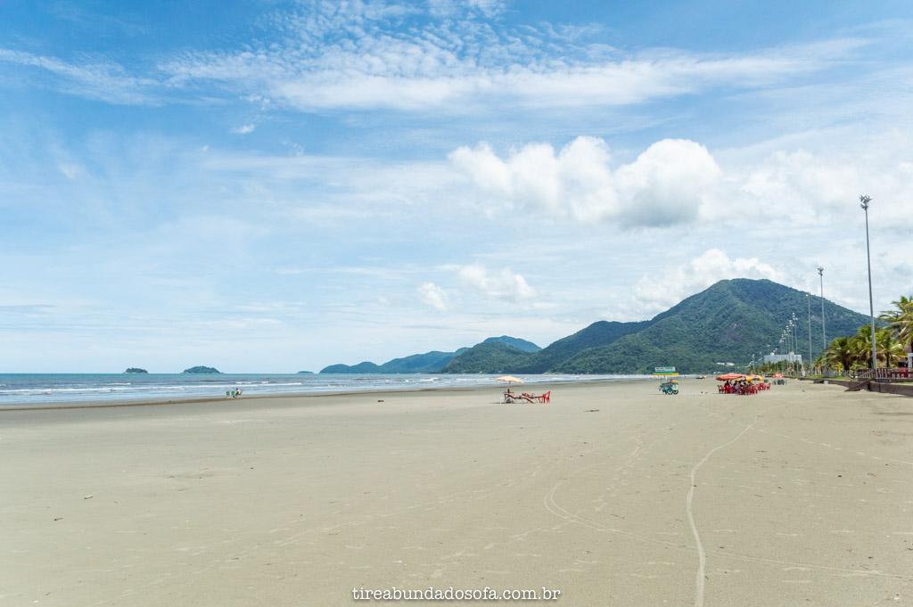 praia central de peruíbe, em são Paulo