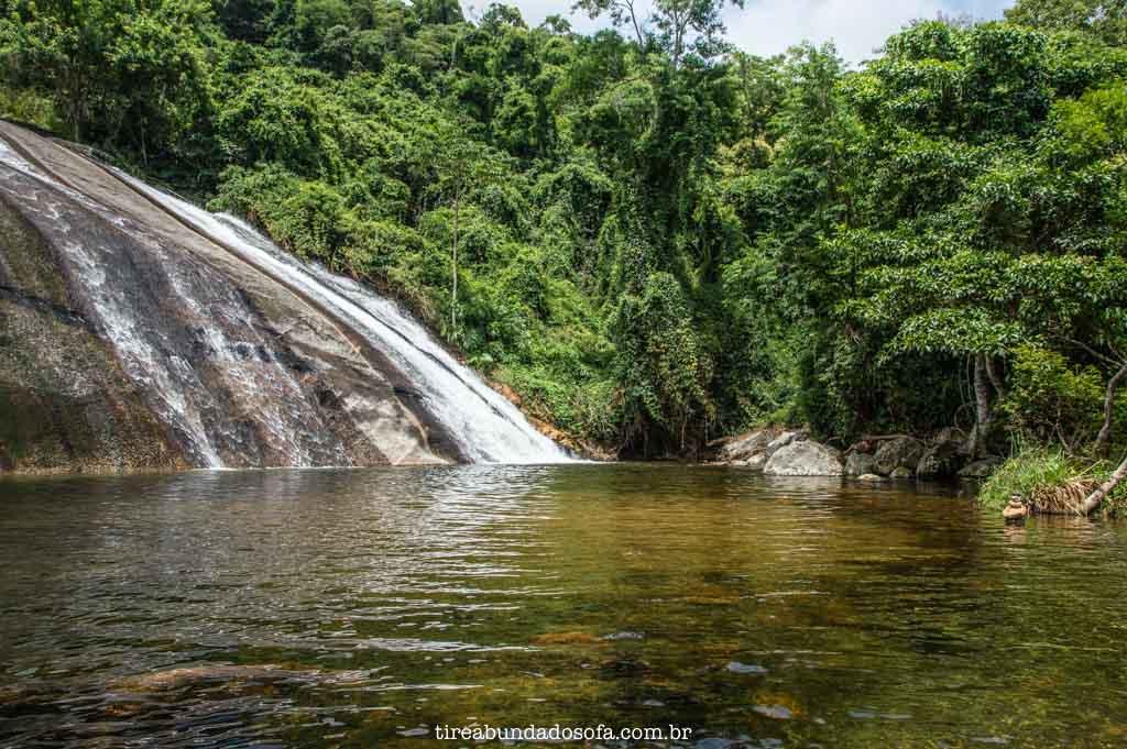 Segunda parte da Cachoeira do Paquetá, em Ilhabela