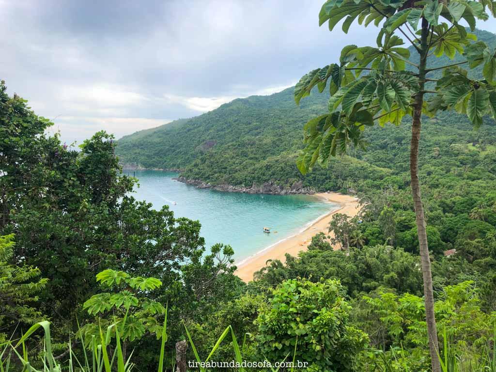 Praia do Jabaquara, em ilhabela, sp
