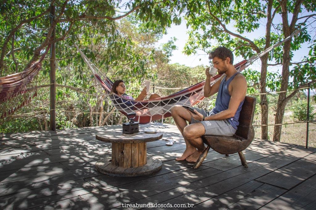 Deck da Pousada Rancho dos Ipês, em Alto Paraíso de Goiás