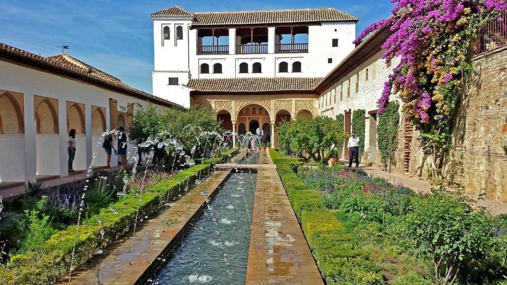 Generalife em Granada, Espanha