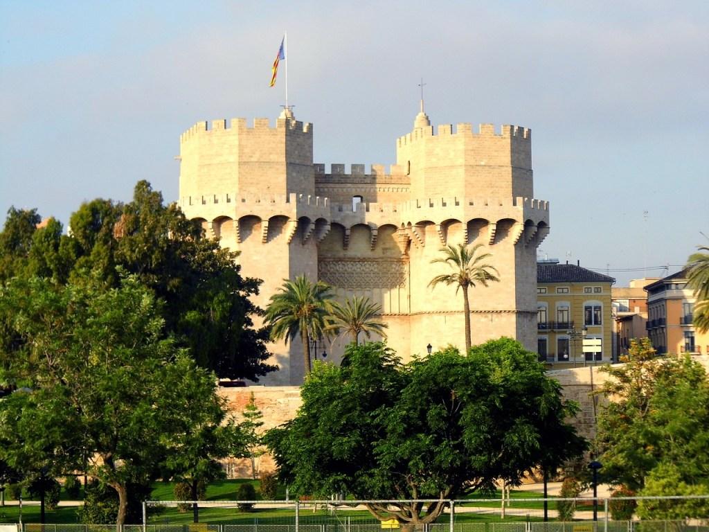 Torre de Serranos em Valência, na Espanha