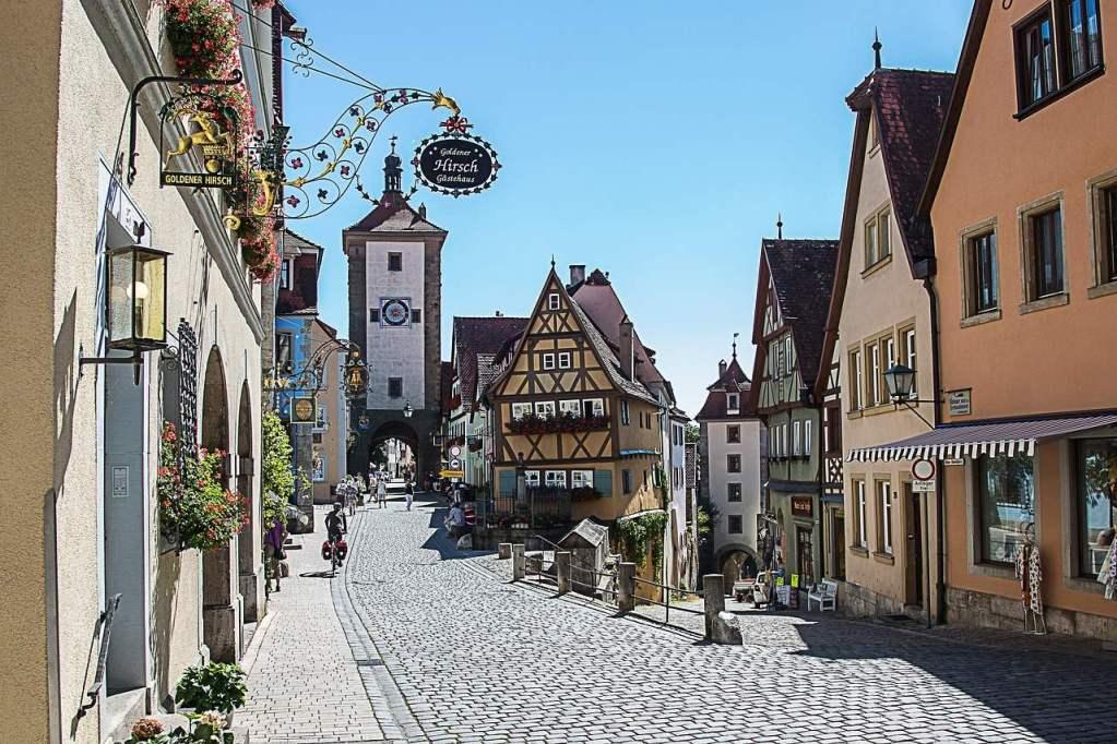 Maravilhosa cidade de Rothenburg ob der Tauber, na Alemanha