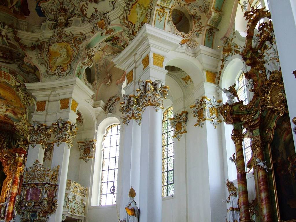 Wieskirche de Steingaden, na Alemanha