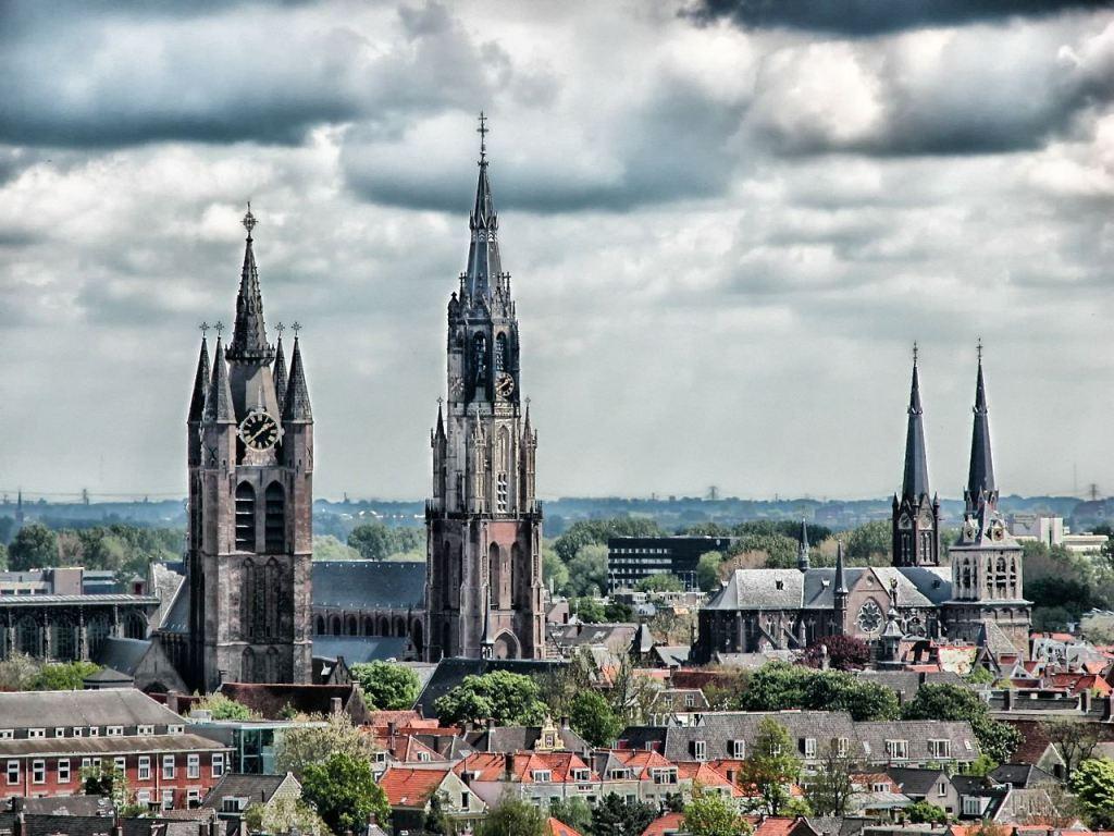 Cidade de Delft, na Holanda