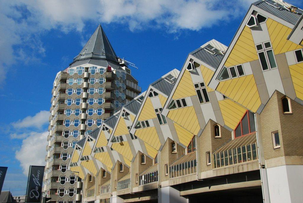 Casas de Cubo em Rotterdam, na Holanda