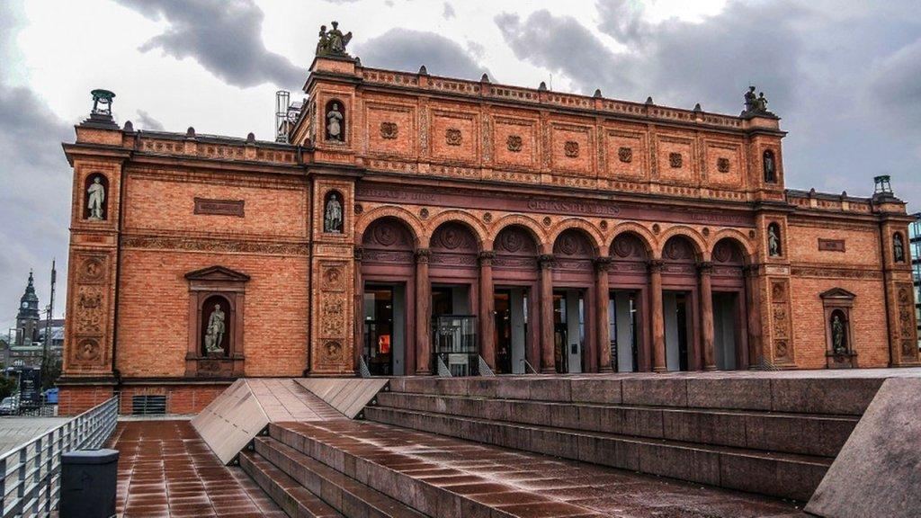 Kunstmeile Hamburg, na Alemanha.