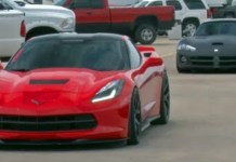 girl Procharged C7 Corvette vs Viper!