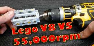 50000 RPM DeWALT Power Tool vs LEGO V8 Engine 1