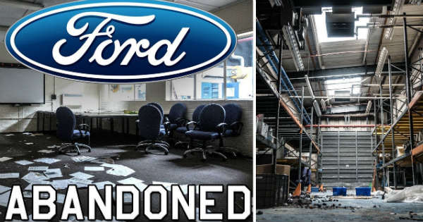 Abandoned Ford Plant massive cars left 2
