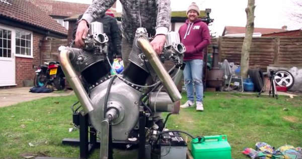 First Test Run Flying Millyard - 5 Litre V Twin Engine 2
