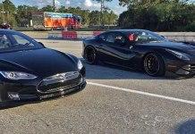 Tesla Model S P85D vs Ferrari F12 DRAG RACE!