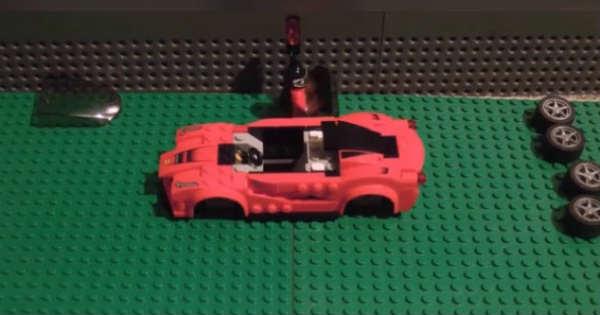 This Man Built His Own Lego Ferrari Car 2