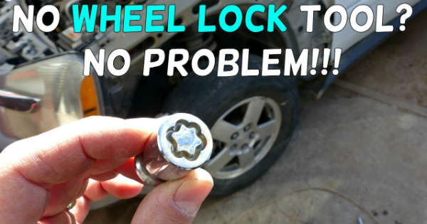 Wheel Lock Removal Without Key Tool 1