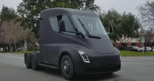 2018 Tesla Semi Truck Spotted On Californian Road 1