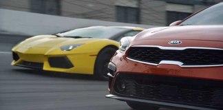 2019 Kia Forte Takes On The Lamborghini Aventador 1