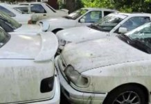 Graveyard With Abandoned Ford Sierra RS Cosworth 1