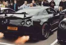 This Black Nissan GTRIs Spitting Huge Flames 1