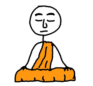 monk who meditates - comic