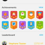 Duolingo badges - screenshot